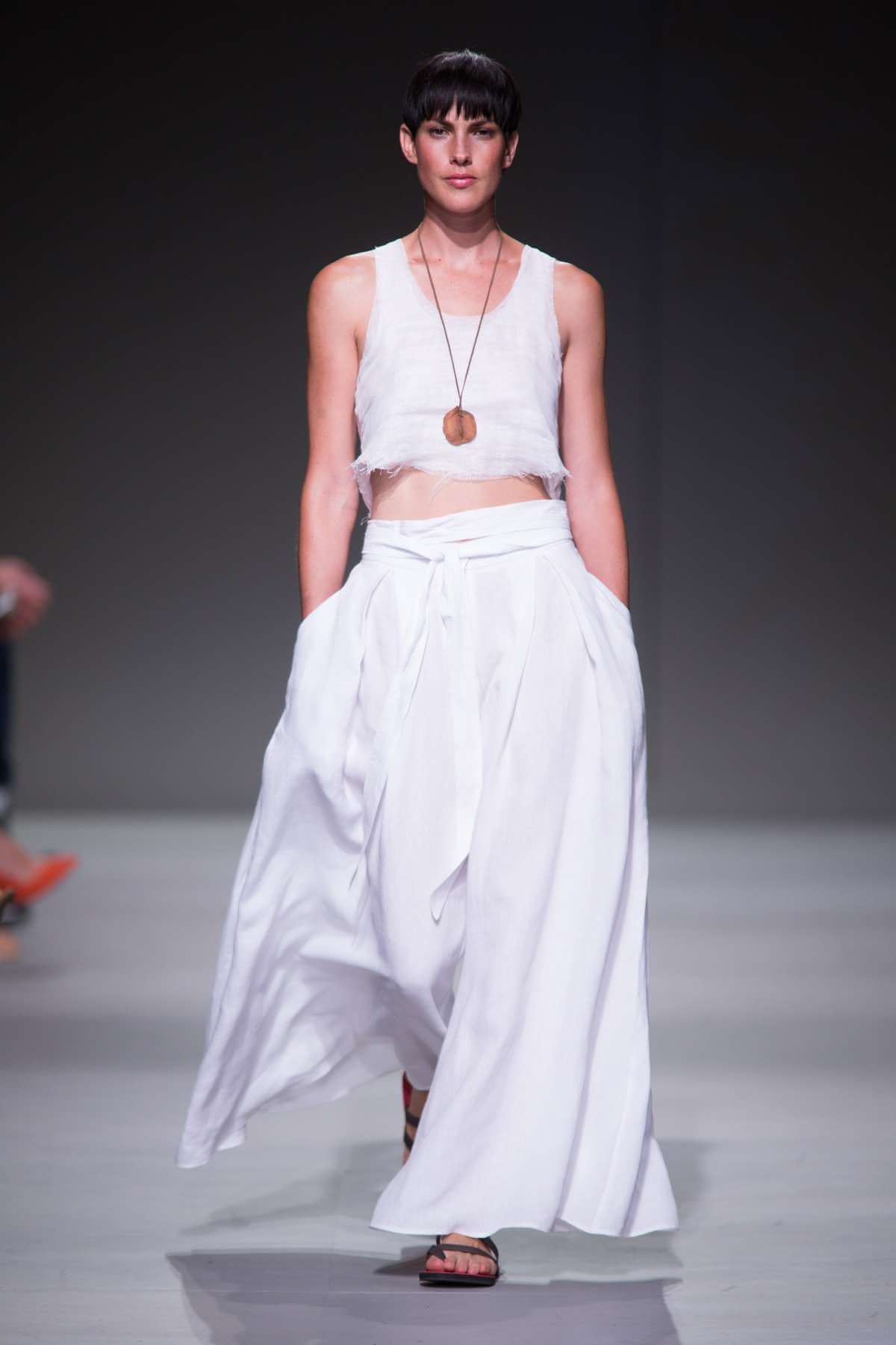 Lunar Crop Top and Linen Samurai Pants