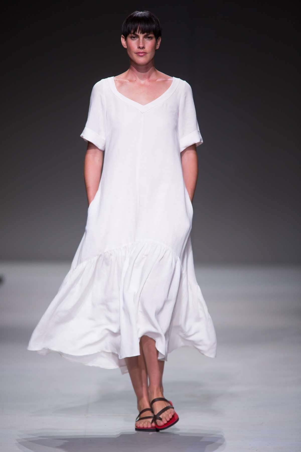 Lunar SS15 Linen Sailor Dress