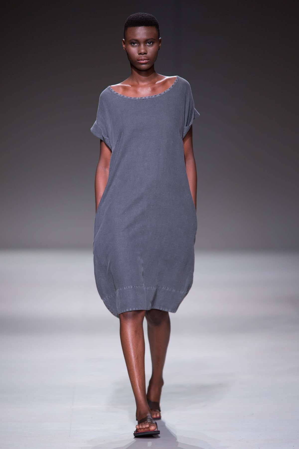 Lunar Vented Linen Dress