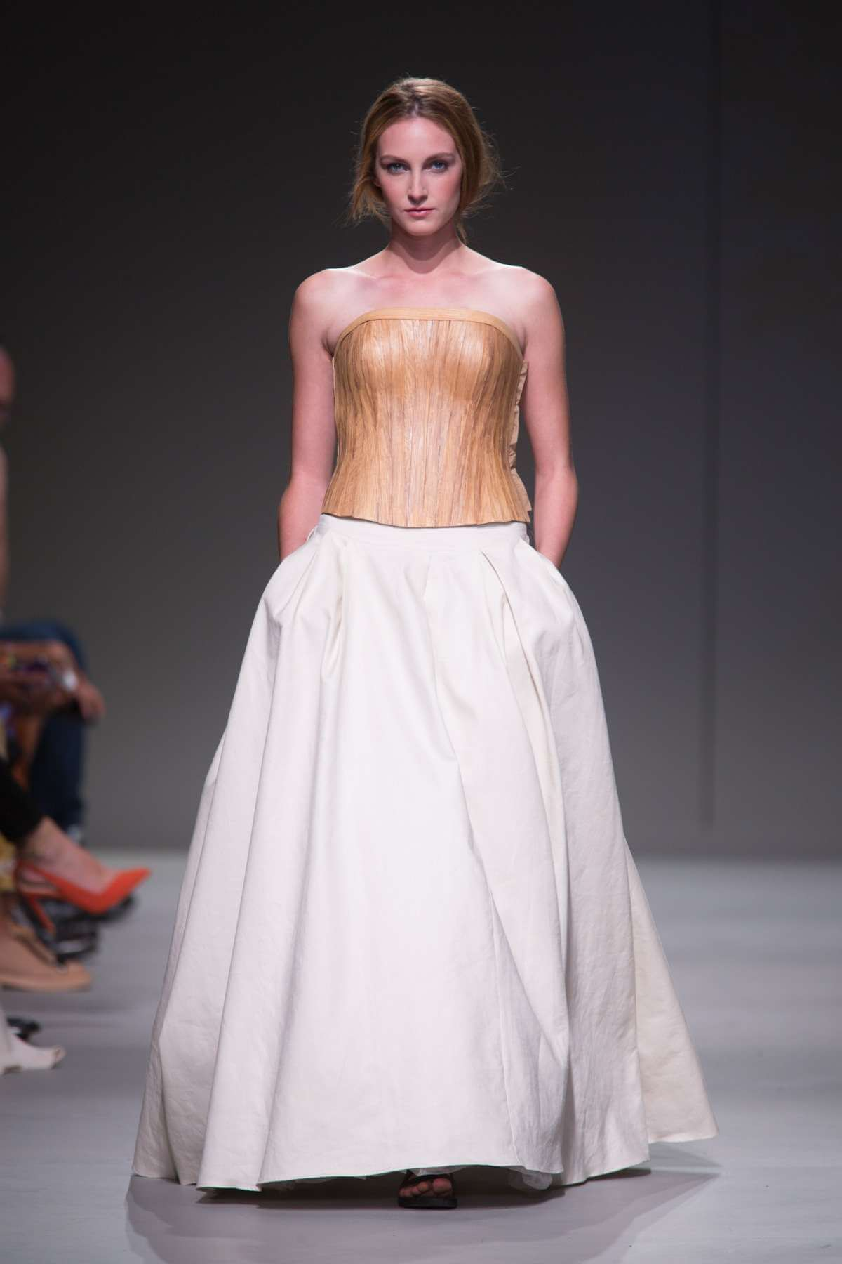 Lunar Wooden Bodice and Linen Statement Skirt