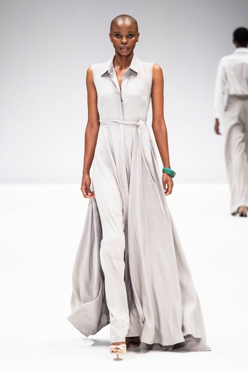 grey linen abigail dress by Lunar