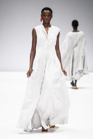 grey linen almaz dress by Lunar