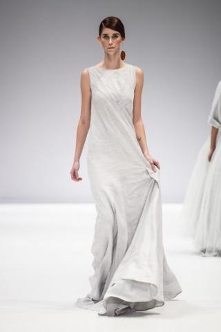 grey linen bamboo dress by Lunar