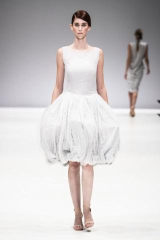 light grey linen busi dress by Lunar