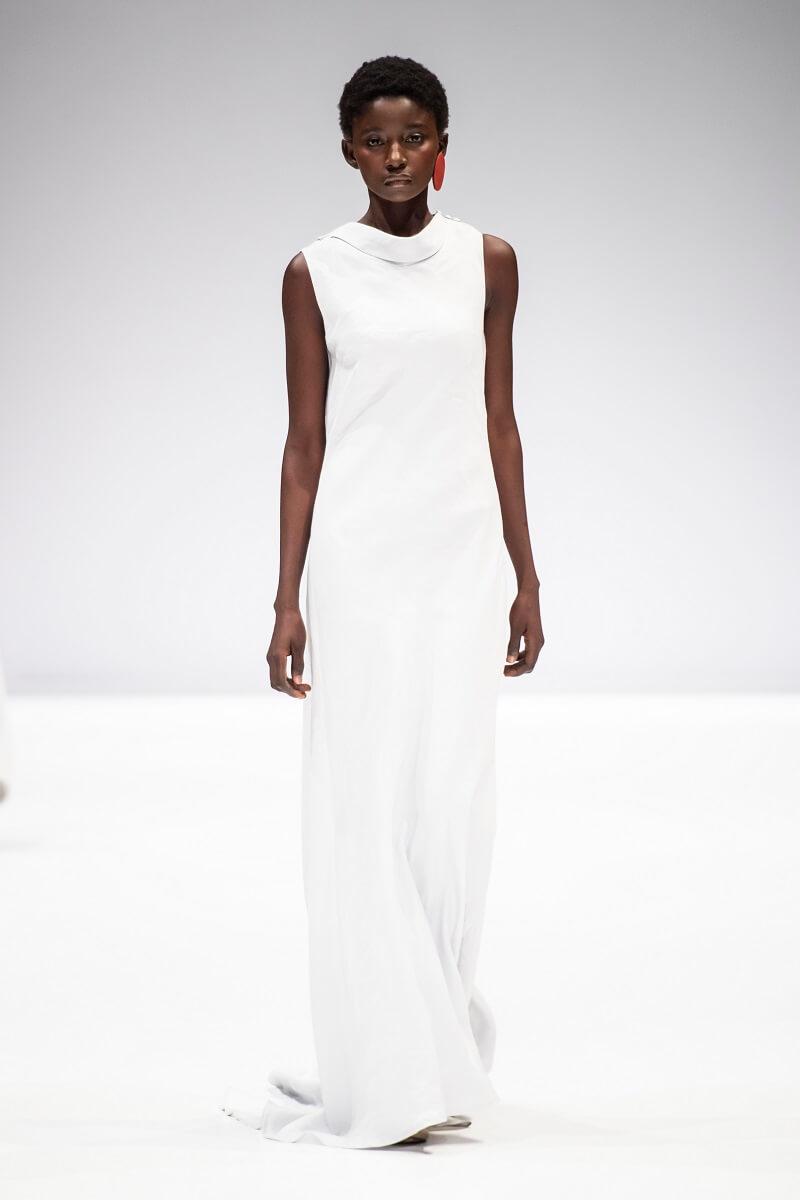 white linen nolitha dress by Lunar