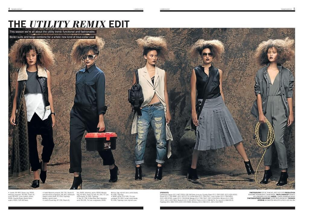 Sunday Times Newspaper Fashion Editorial