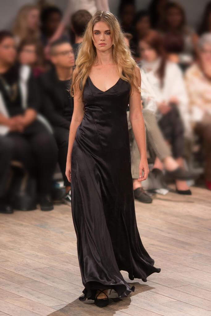 Lunar Black Silk Eveningwear Dress